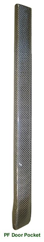 Range Rover Silver CF-PF Door Pocket - 100