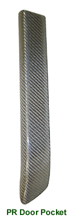 Range Rover Silver CF-PR Door Pocket - 100