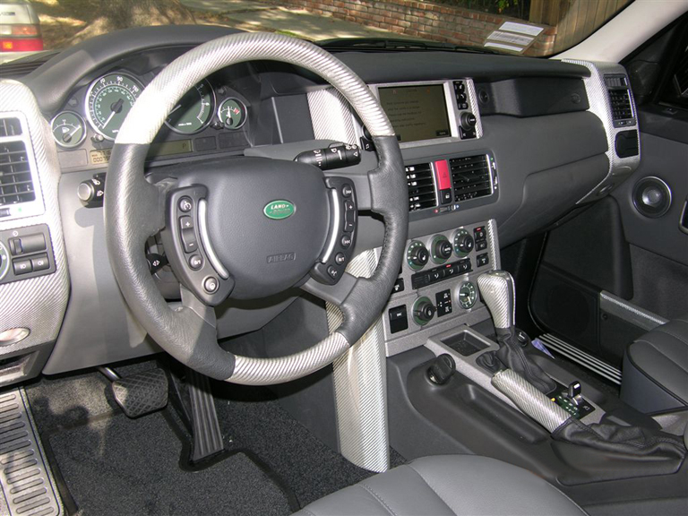 Range Rover Silver CF-install-left view - 768