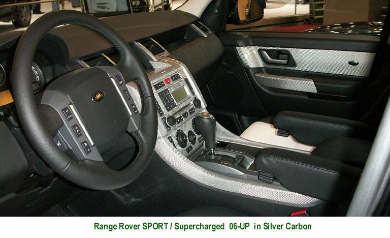 Range Rover Sport Silver CF Dashes-install - 768p 72P