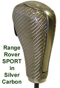Range Rover Sport Silver CF Shift Knob - 193x284