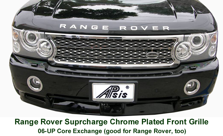 Range Rover Supercharged-Chrome Front Grille- 768 - Black Truck