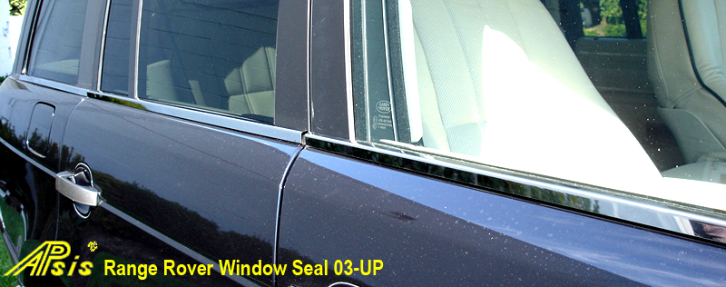 Range Rover-Window Seal-stainless-installed-front view-close shot-800