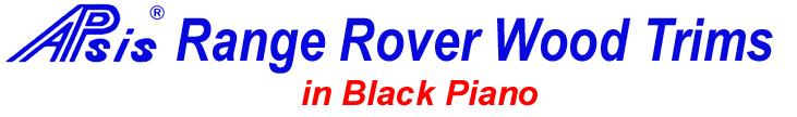 Range Rover Wood Trims in Black Piano LOGO