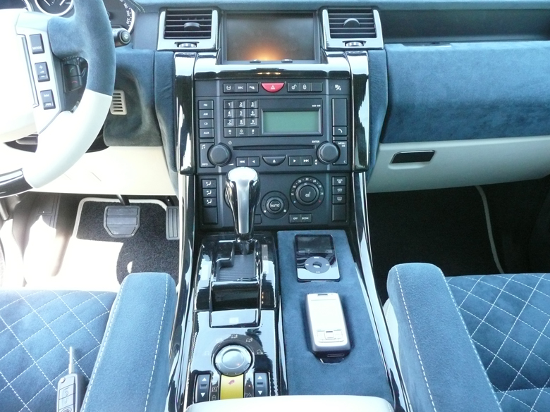 SPORT-Black Lined Oak-installed-Radio Surround & Floor Console-reto-2
