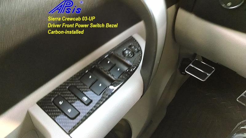 Sierra Crewcab-CF-DF Power Switch Bezel-installed-2