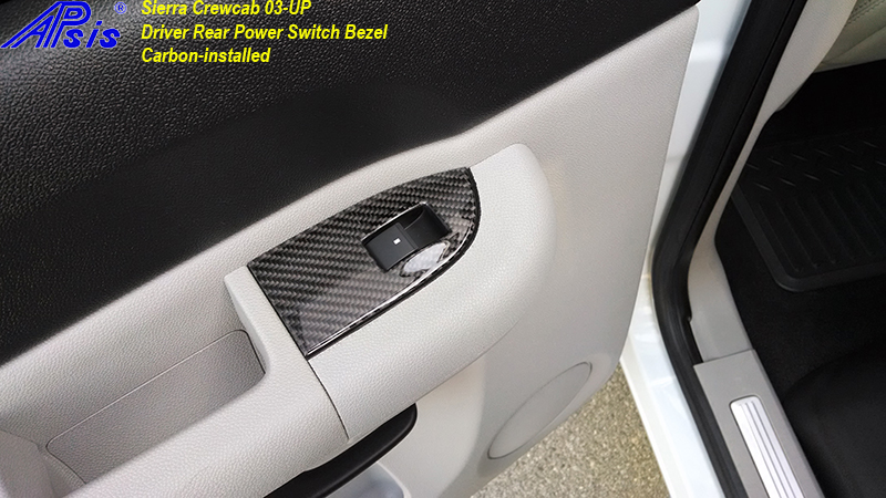 Sierra Crewcab-CF-DR Power Switch Bezel-installed-2