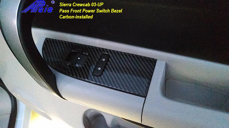 Sierra Crewcab-CF-PF Power Switch Bezel-installed-1