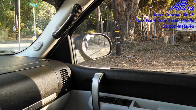 Sierra Crewcab-CF-Pass Door Assistant Handle-installed-2
