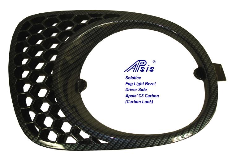 Solstice GXP Fog Light Bezel-C3 Carbon-left only-1-driver