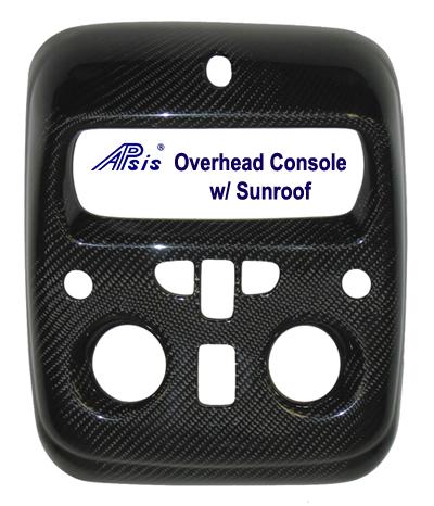 Suburban 00-06 Black CF-Overhead Console-w-Sunroof- 400