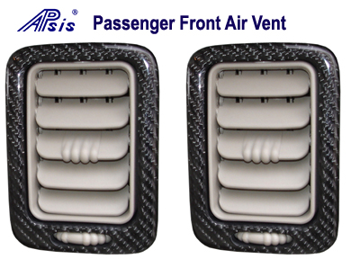 Suburban 03-06 Black CF- Passenger Front Air Vents 03-06