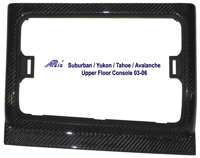 Suburban 03-06 Black CF- Upper Floor Console 03-06