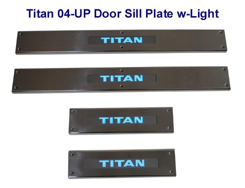 Titan 05-UP Door Sill Plate w-Light 500