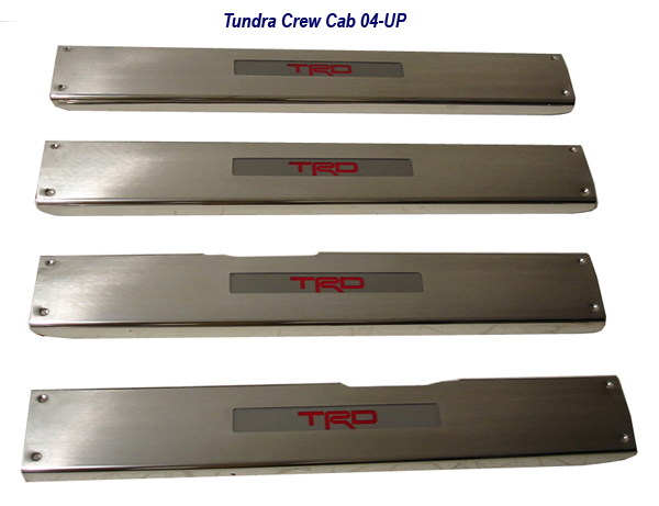 Tundra Door Sill 09-UP w-TRD logo in red-1