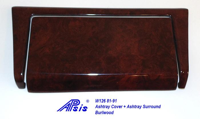 W126 Ashtray Cover + Surround-burlwood-1