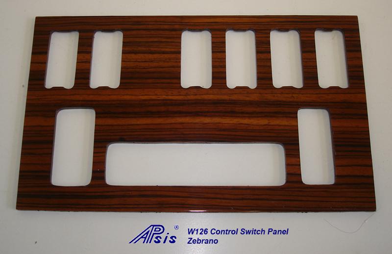 W126 Control Swtich Panel-zebrano-1a