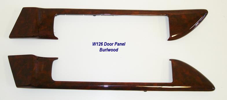 W126 Door Panel-burlwood-pair-1