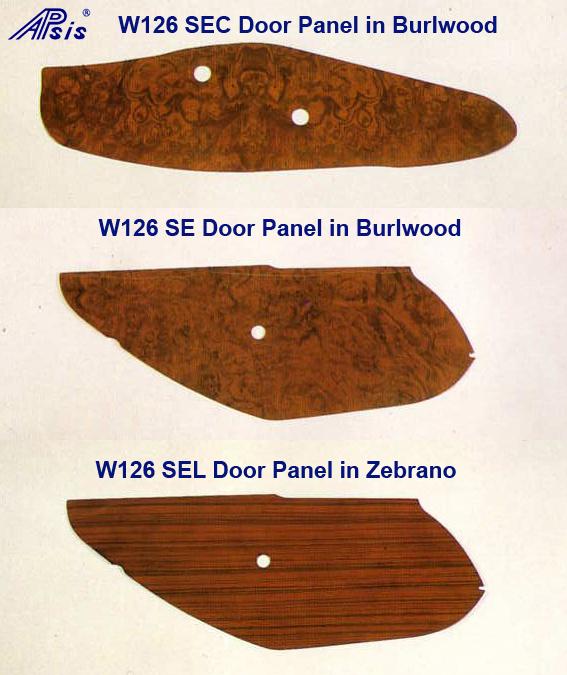 W126 Door Panels