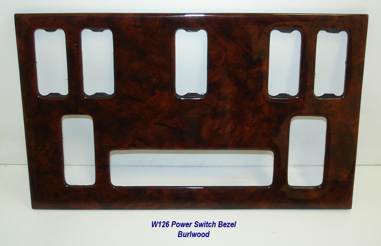 W126 Power Switch Bezel-burlwood-1