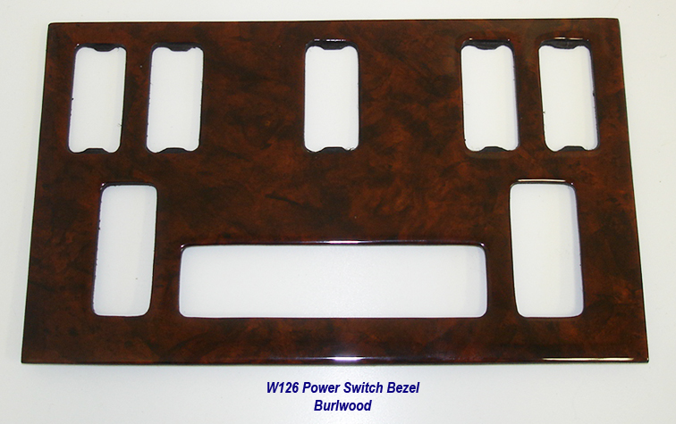 W126 Power Switch Bezel-burlwood-2