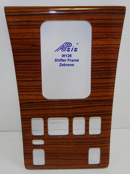 W126 Shifter Frame-zebrano-1