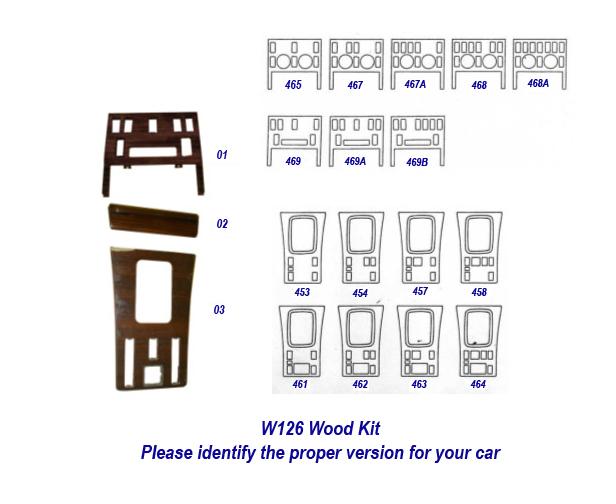 W126 Wood Kit