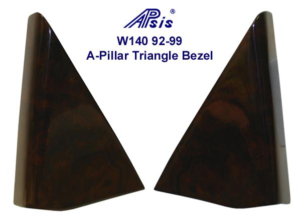 W140  92-99 A-Pillar Triangle Bezel- 600