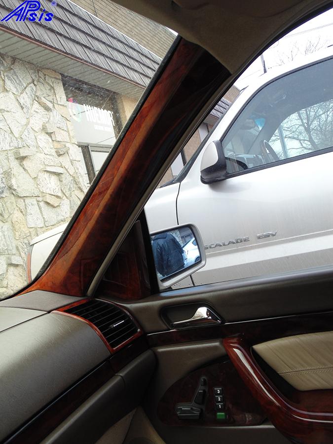 W140 A-Pillar Burlwood-installed-2a 800