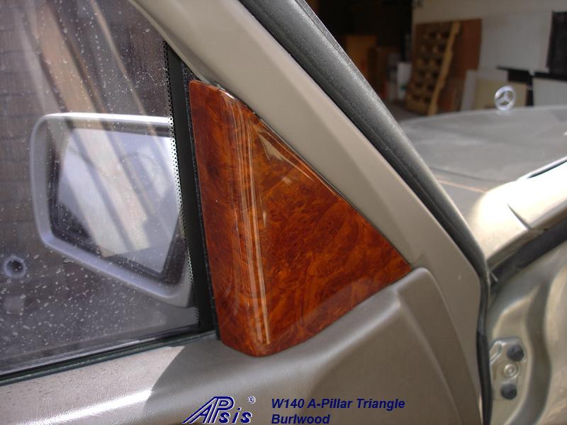 W140 A-Pillar Trangle-installed on beige interior-1