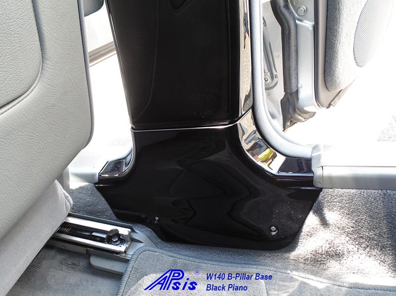 W140 B-Pillar Base-black piano-installed-2