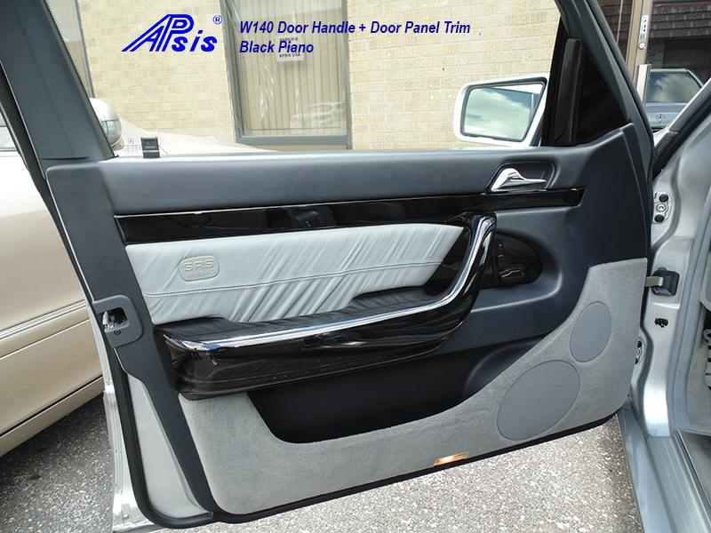 W140 Black Piano-Door Handle-DF-installed-1
