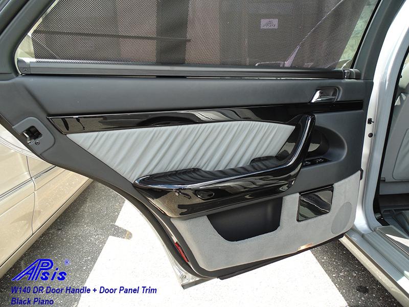 W140 Black Piano-Door Handle-DR-installed-1