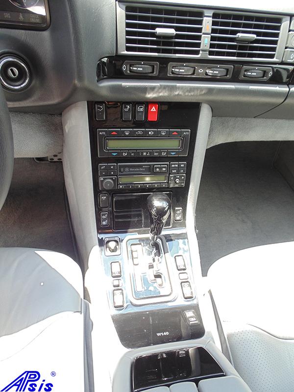 W140 Center Console-black piano-2 full view