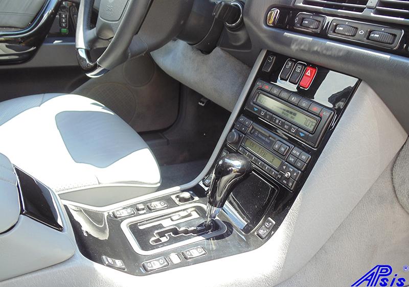 W140 Center Console-black piano-5 full view