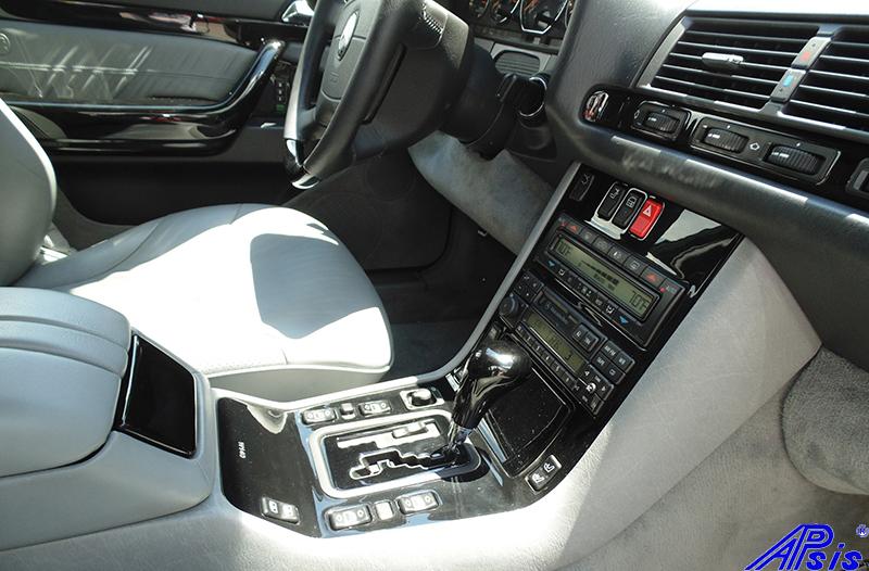 W140 Center Console-black piano-6 full view