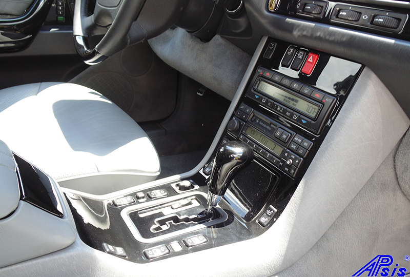 W140 Center Console-black piano-7 full view