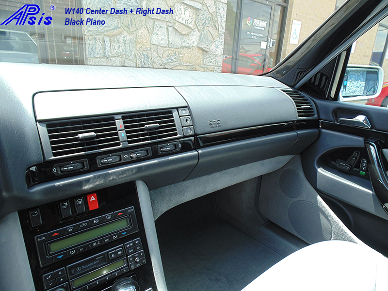 W140 Center+Right Dash-black piano-2