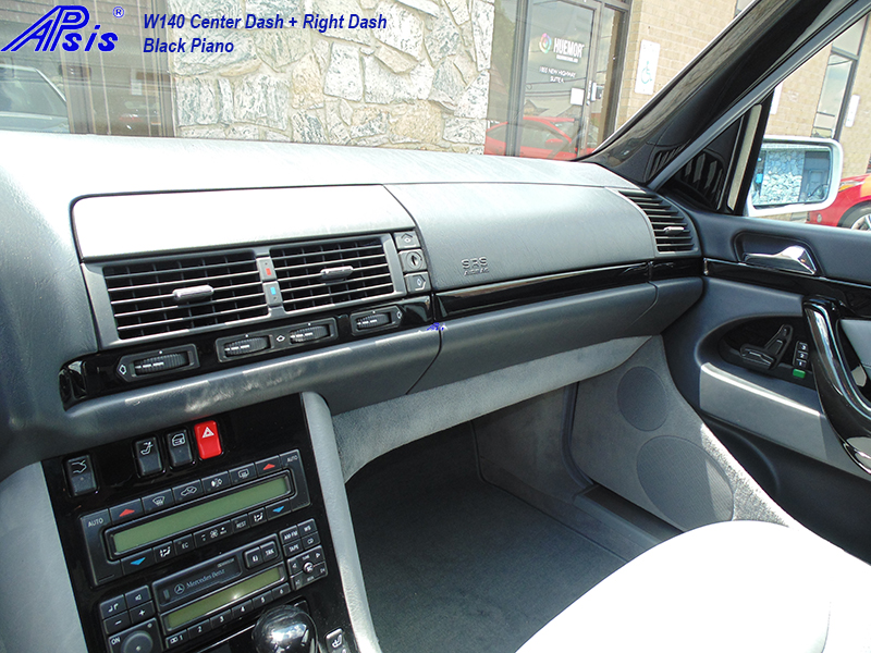 W140 Center+Right Dash-black piano-3