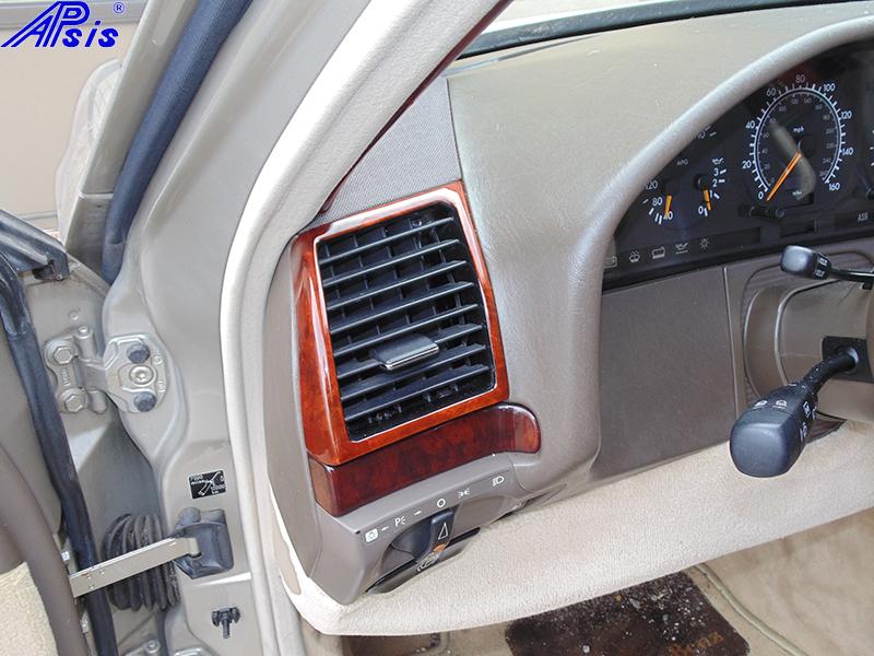 W140 Driver Air Vent-burlwood-installed-2