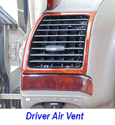W140 Driver Air Vent-installed-1 250