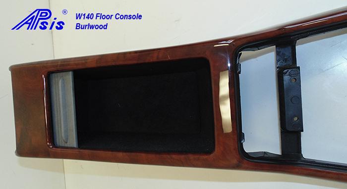 W140 Floor Console-burlwood-individual-close shot-5