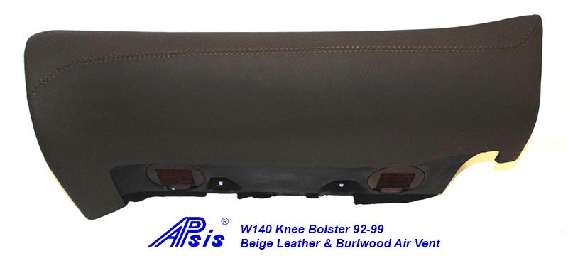 W140 Knee Bolster-beige w-beige stitching-1