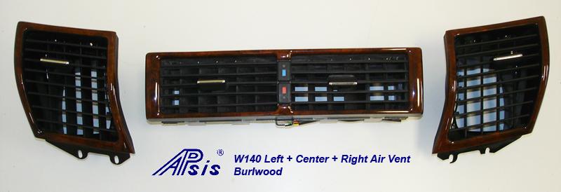 W140 Left+Center+Right Air Vent-burlwood-1