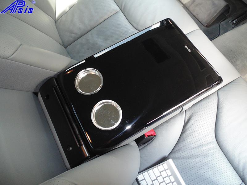 W140 Rear Seat Armrest-black piano-1