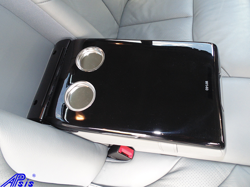 W140 Rear Seat Armrest-black piano-2