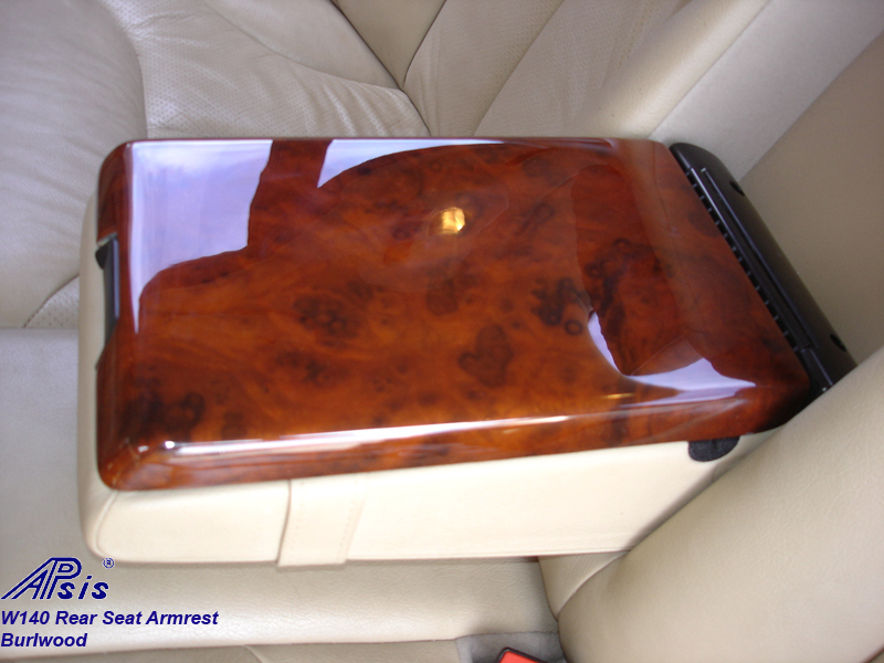 W140 Rear Seat Armrest-burl-insalled-1