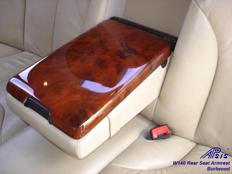 W140 Rear Seat Armrest-burl-insalled-2