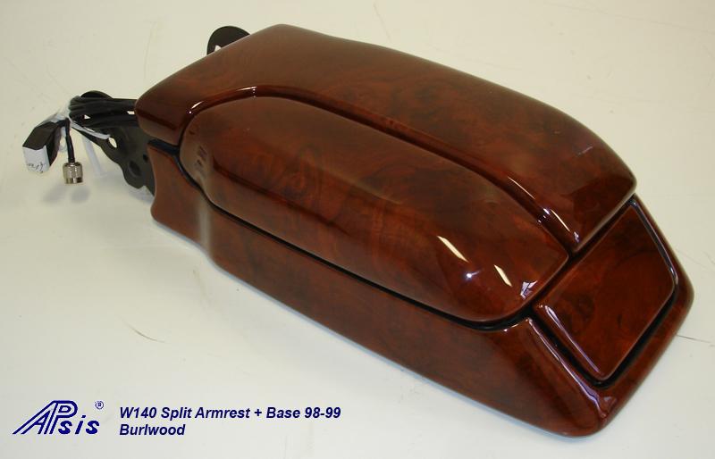 W140 Split Armrest+Base-burlwood-individual-1