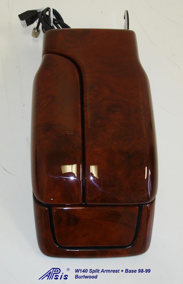 W140 Split Armrest+Base-burlwood-individual-3
